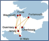 Condor Ferries Routes