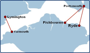 Wightlink Ferries Routes